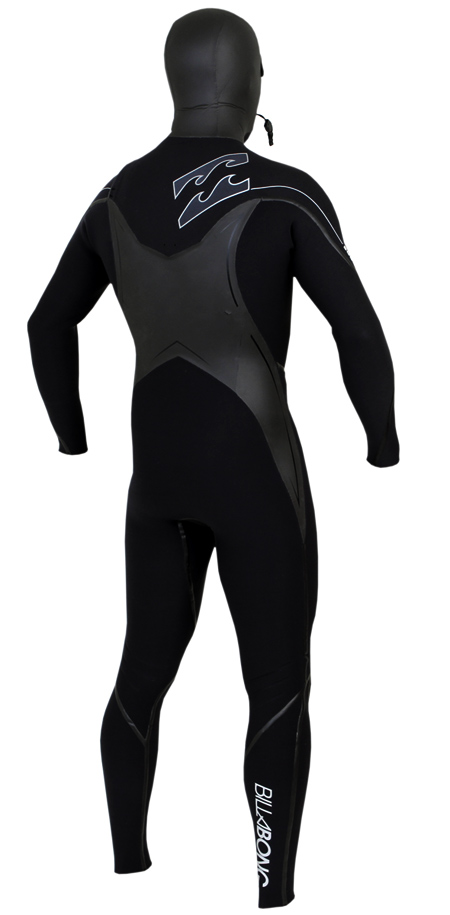 Billabong Solution SG5 504 Hooded Chest Zip 5/4/3mm Wetsuit - MWFUVGC5-BLK