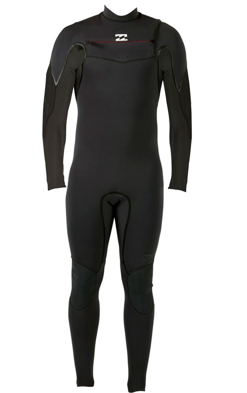 Billabong Xero Revolution 302 Men's Chest Zip 3/2mm Full Wetsuit - Black