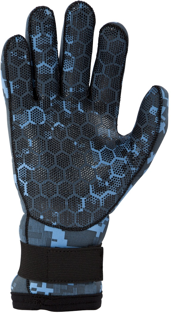 Body Glove EX3 Camo 3mm Diving Gloves - NEW Blue Camo! - 13621-BLCAMO