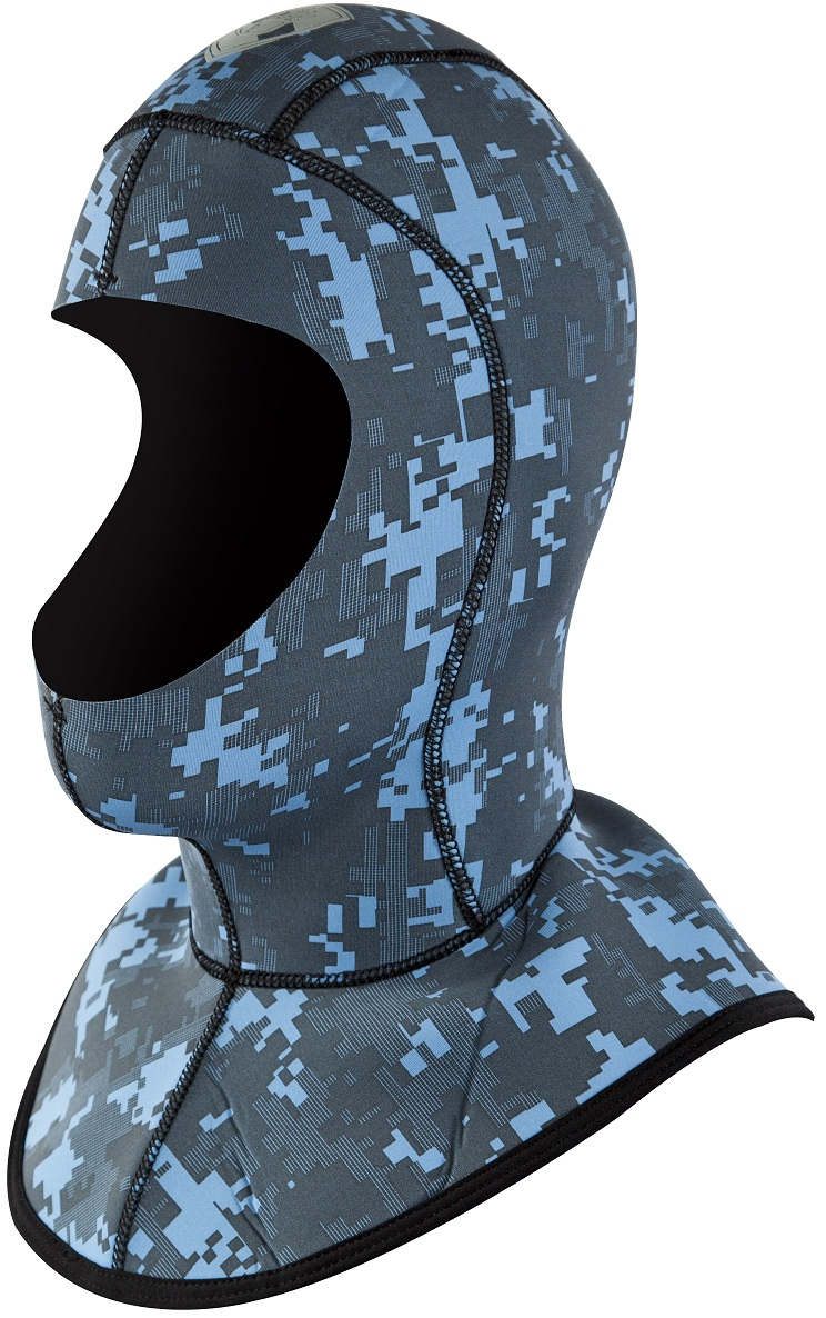 Body Glove EX3 Camo 6/3mm Diving Hood - NEW Blue Camo! -