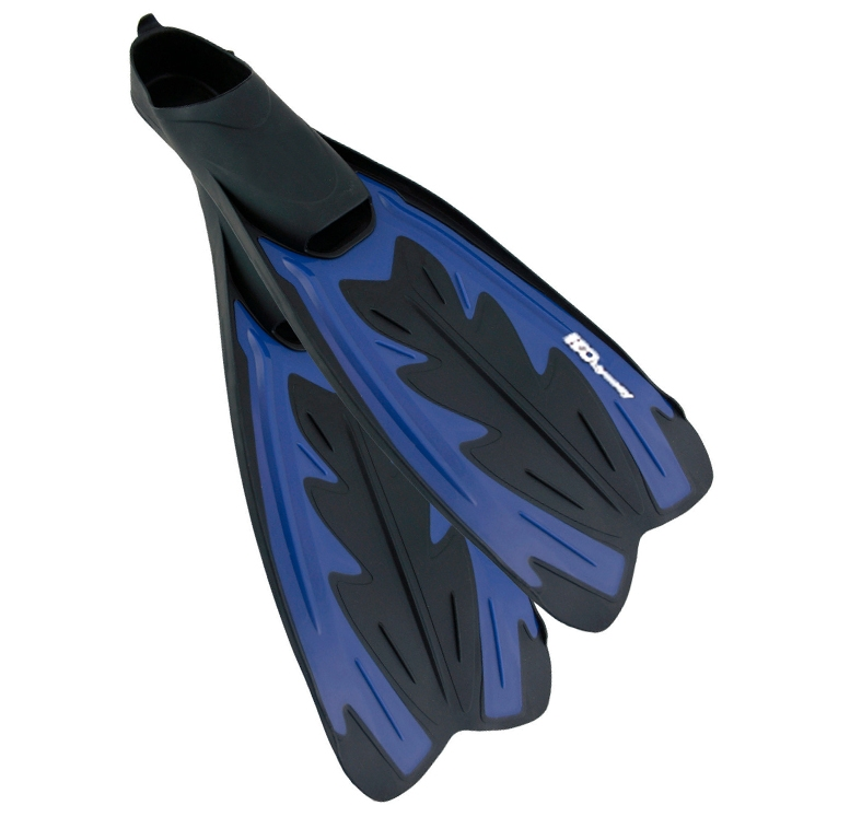 H2Odyssey Caicos Full Foot Fin - Blue/Black -
