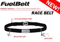 Reflective Race Fuel Belt Black -