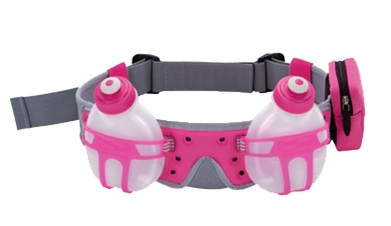 Fuel Belt Revenge R2O 2 Bottle Belt: Pink One Size Fits All - 873855006837-Pink