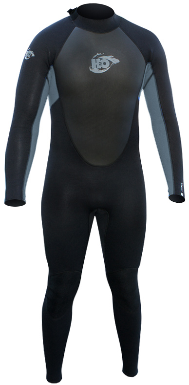 H2Odyssey Vapor Men's Wetsuit 3/2mm Flatlock - Black/Grey