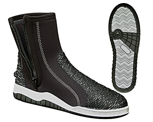 H2Odyssey 5mm Ultrasole Zippered Dive Boot