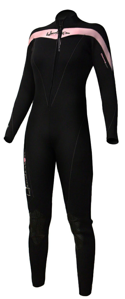 Henderson THERMOPRENE Front Zip 3mm Women's Wetsuit Jumpsuit - Blk/Pink