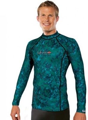 Henderson Camo Skin Rash Guard Camouflage Long Sleeve Free Dive -