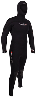 8/7mm Men's Henderson THERMOPRENE Semi-Dry Hooded Wetsuit Chest Entry -