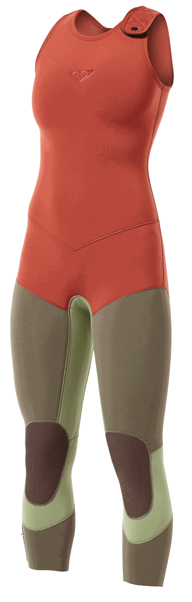 Roxy Kassia Meador Wetsuit 3mm Long John Wetsuit Limited Edition - New Spring Color! - KM309WG-RED