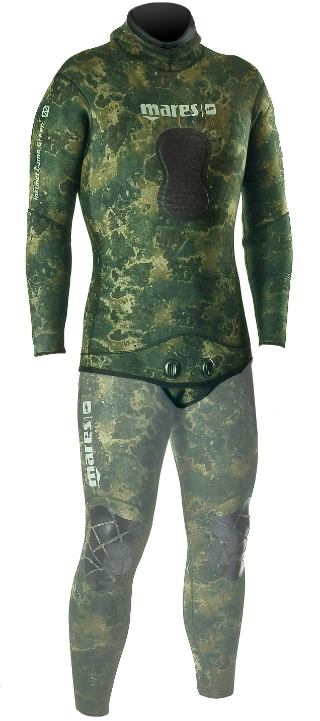 Mares Pure Instinct 3.5mm Green Camo Men's Wetsuit Jacket - 482122