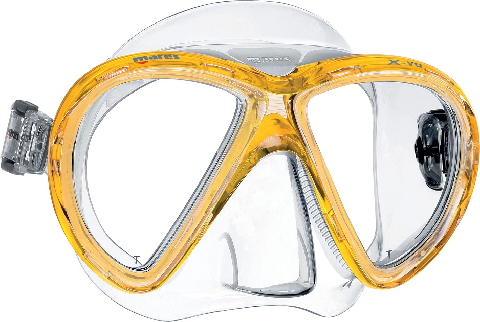 Mares X-Vu Dive Mask - Yellow -