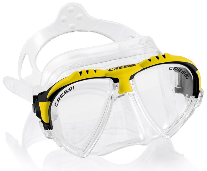 Cressi Matrix Two Window Dive Mask Yellow -