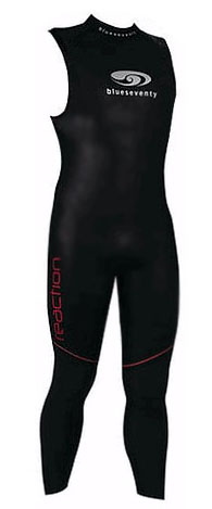 Men's Blue Seventy Reaction Long John Sleeveless Wetsuit - VIDEO - RLJ