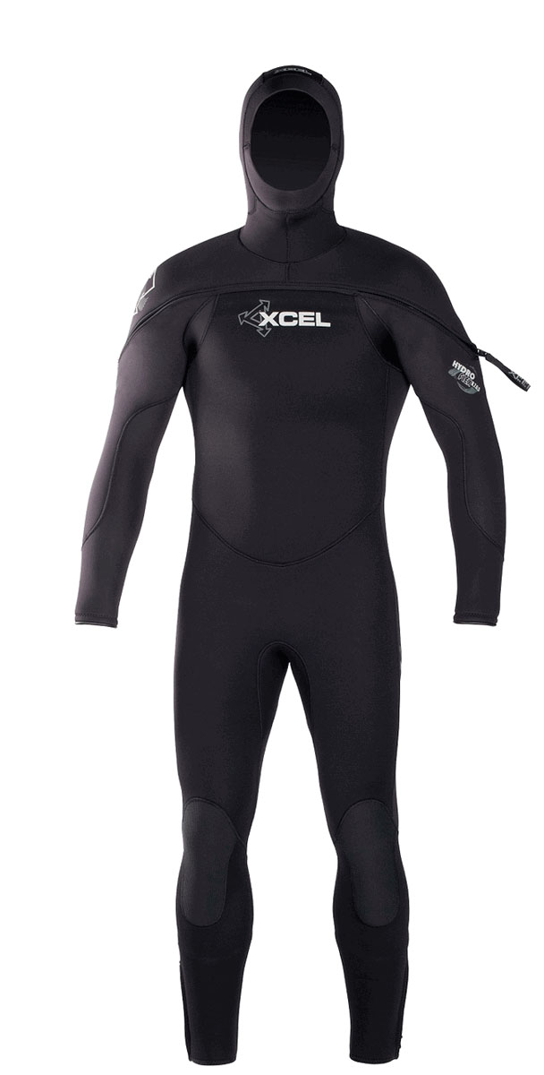 Xcel Men's Cold Water Diving Wetsuit Polar Hydroflex 8/7/6/5mm Men's Hooded Wetsuit
