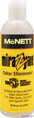 McNett Mirazyme Wetsuit Wash Odor Eliminator 8 oz -