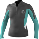 O'Neill Bahia 1mm Women's Front Zip Neoprene Jacket Dark Grey -