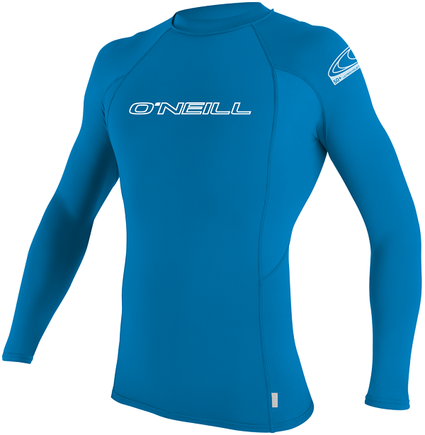 O'Neill Youth Basic Skins Long Sleeve Rashguard 50+ UV Protection-Blue