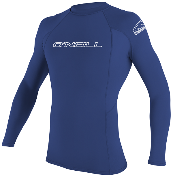 O'Neill Basic Skins Long Sleeve Men's Rashguard-Blue - 3342-018