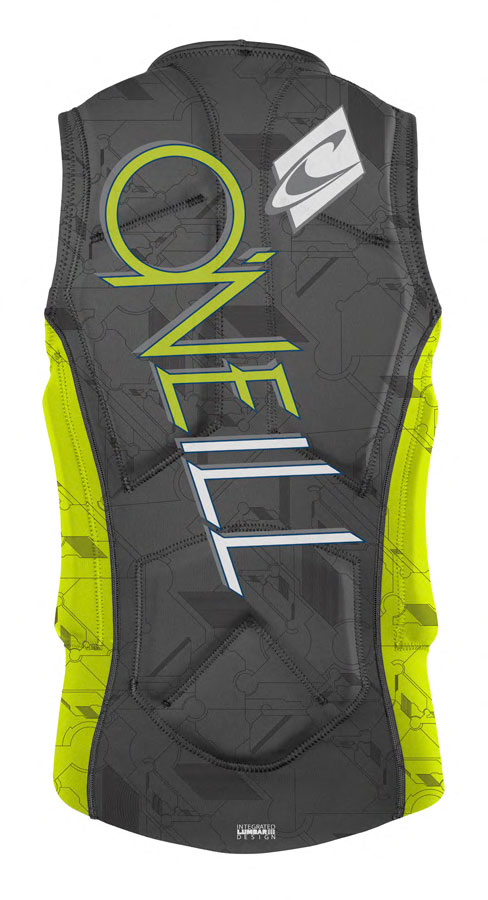 O'Neill Gooru Comp Wakeboard and Waterski Vest - Graphite/Lime - 3987-V39