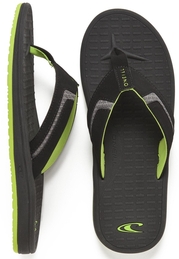 O'Neill Men's Gooru Flip Flop Sandals - Black -