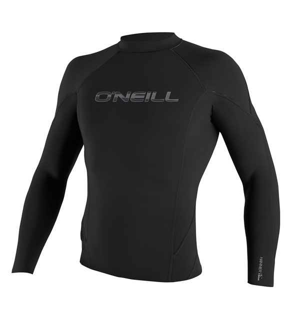 O'Neill Men's 1.5mm Hammer Jacket Long Sleeve Crew Neoprene - Black - 4177-A05