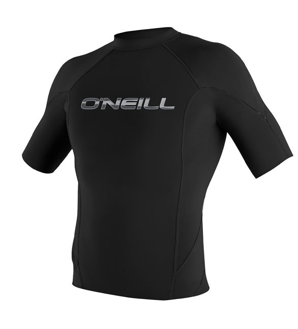 O'Neill Men's 1mm Hammer Short Sleeve Crew Neoprene Jacket - Black - 4165-A05
