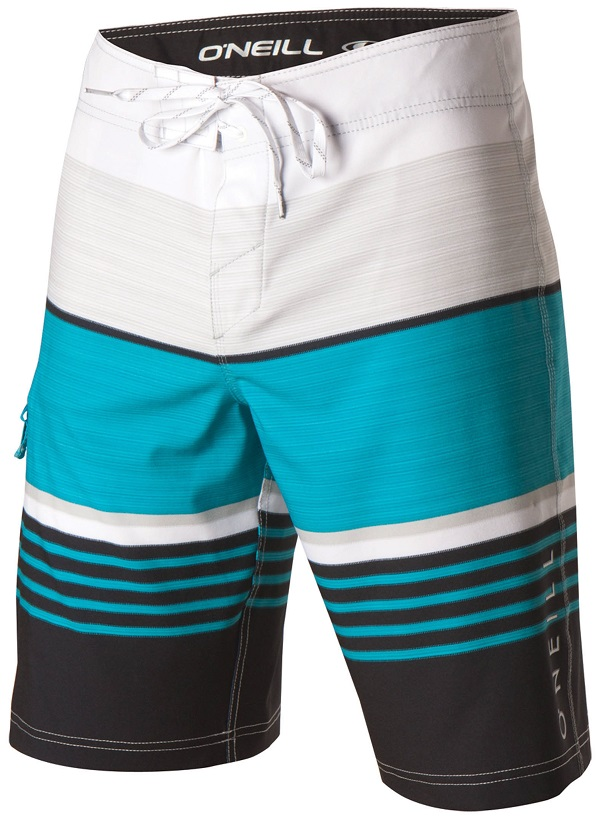 O'Neill Heist Men's Boardshorts - White/Blue/Black