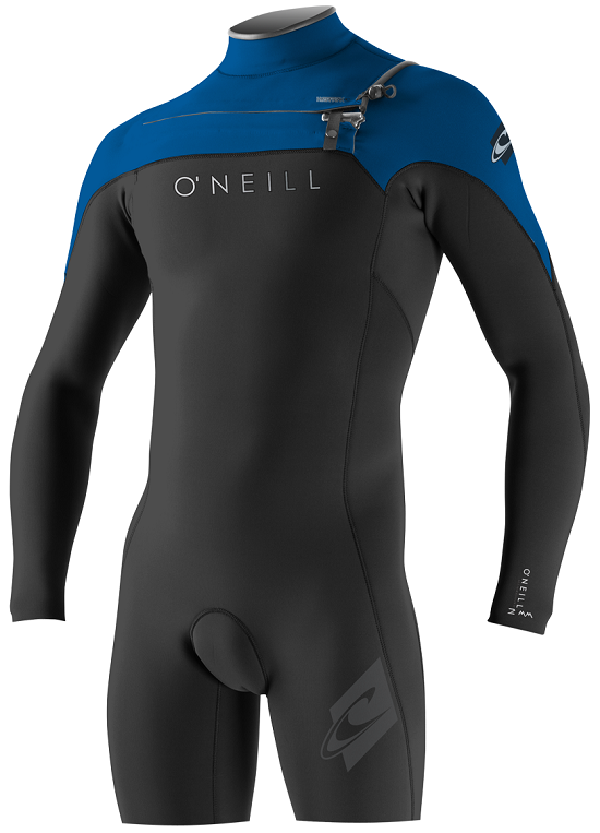 O'Neill Hyperfreak Long Sleeve Springsuit Men's Wetsuit 2mm Front Zip- Blk/Blue