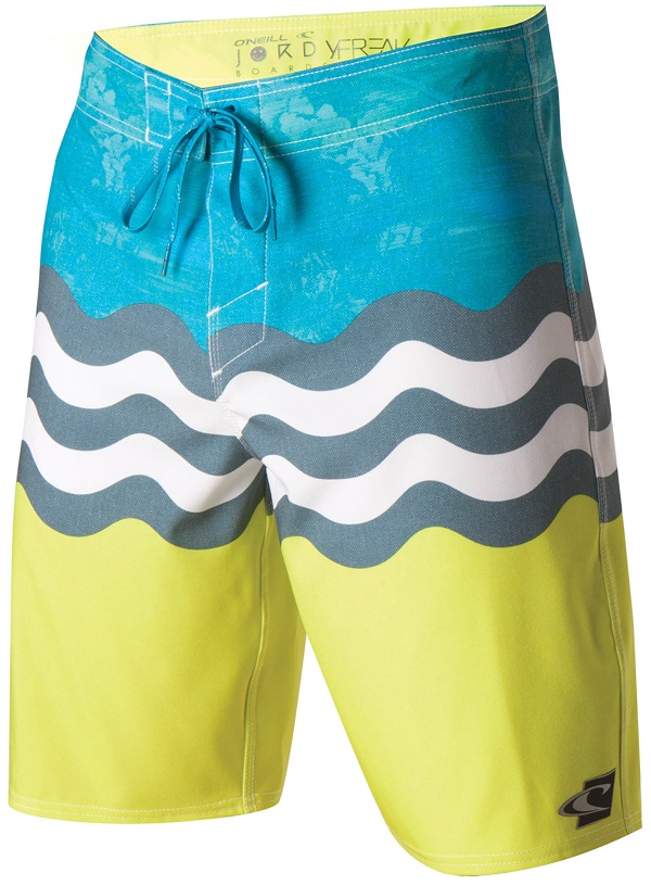O'Neill Jordy Freak Men's Boardshorts - Blue/Yellow -