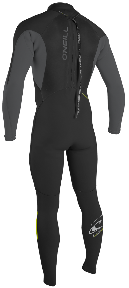 O'Neill Epic Wetsuit Junior 4/3mm Full Wetsuit Youth Unisex - Black/Lime - 4216-V55