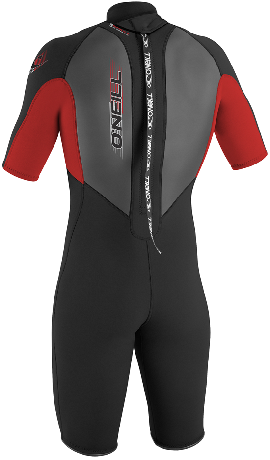 O'Neill Reactor Youth Springsuit Wetsuit 2mm Black & Red - 3803-C18