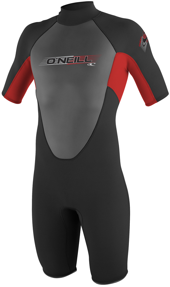O'Neill Reactor Youth Springsuit Wetsuit 2mm Black & Red