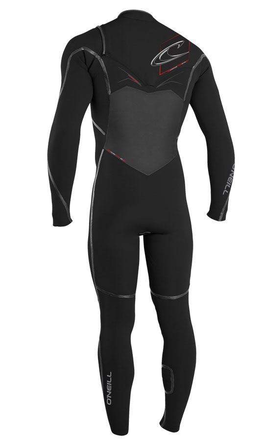 O'Neill Men's Pyrotech 4/3mm F.U.Z.E. Zip Wetsuit Chest Entry - 4193-A05