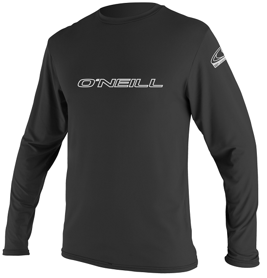 O'Neill Basic Skins Long Sleeve Men's Rashguard 50+ UV Protection  - Black