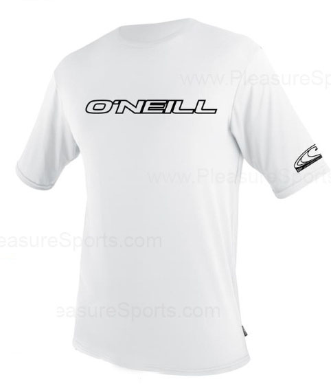 O'Neill Men's Rashguard Loose Fit Rash Tee 50+ UV Protection - White
