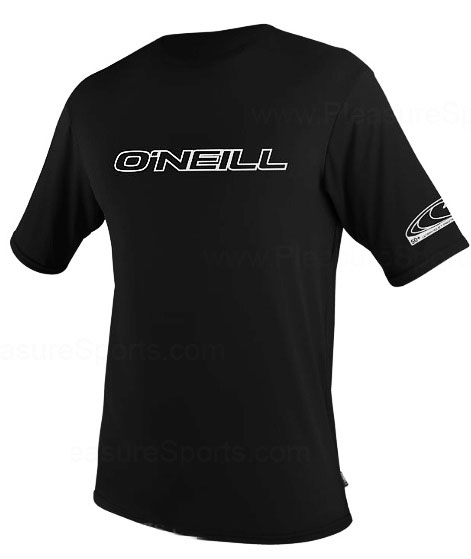 O'Neill Men's Rashguard Short Sleeve Loose Fit Rash Tee 50+ UV Protection - Black