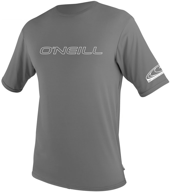 O'Neill Men's Rashguard Loose Fit Rash Tee 50+ UV Protection Grey