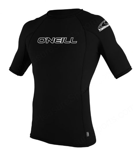 O'Neill Men's Skins Short Sleeve Rashguard 50+ UV Protection - Black -