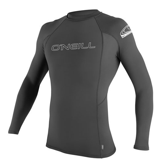 O'Neill Skins Men's Rashguard Long Sleeve Rashguard 50+ UV Protection - Grey