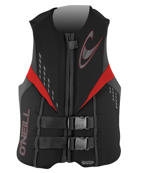 O'Neill Reactor 3 USCG Life Vest - Black/Graphite/Red - 3984-C81