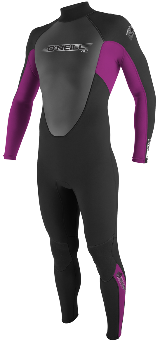 O'Neill Reactor Wetsuit Youth Juniors 3/2mm Girls Fullsuit Black/Pink - 3802-R99