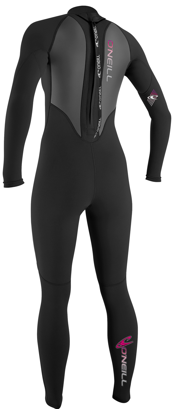 O'Neill REACTOR 3/2mm Women's Wetsuit - BLACK - 3800-A05