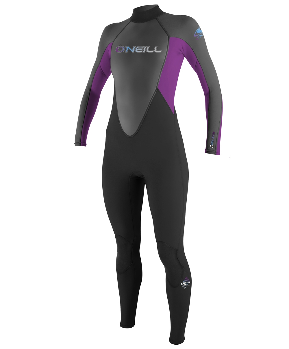 O'NEILL REACTOR 3/2 FULL WOMENS WETSUIT - BLACK - 3800-A05
