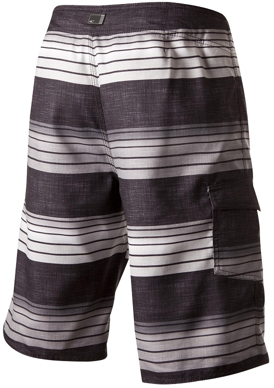 O'Neill Santa Cruz Stripe Men's Boardshorts - Black - 14106701-BLK