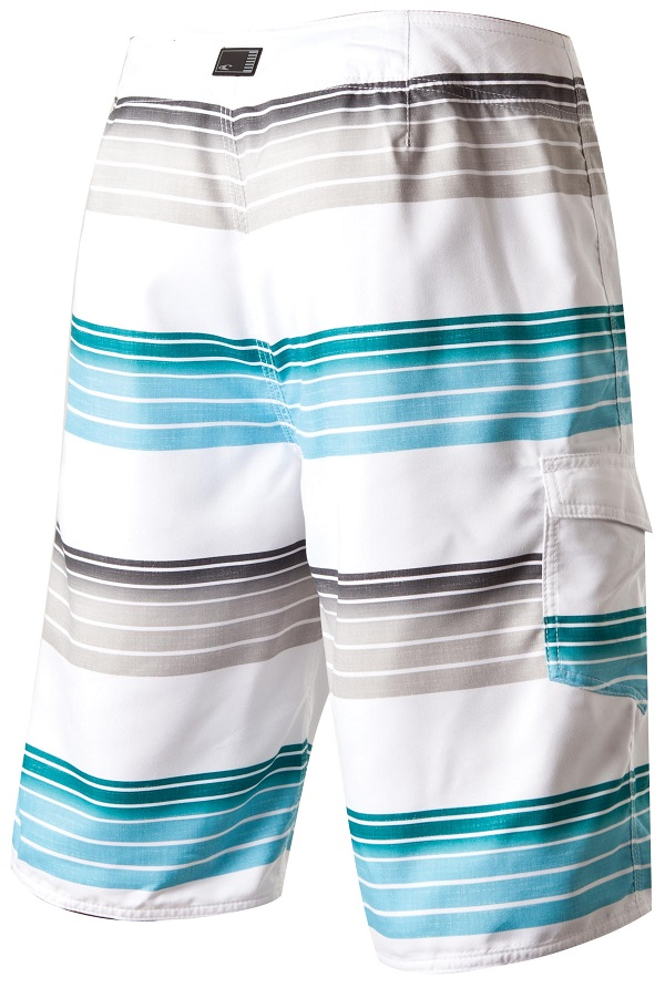 O'Neill Santa Cruz Stripe Men's Boardshorts - White - 14106701-WHT