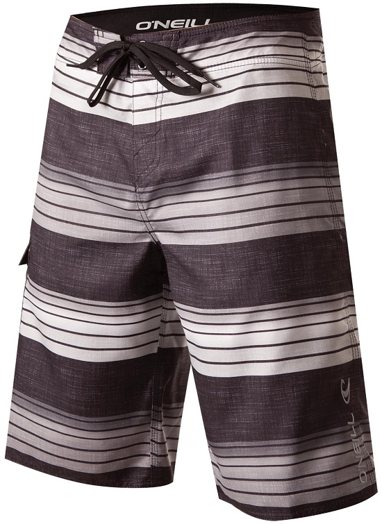 O'Neill Santa Cruz Stripe Men's Boardshorts - Black
