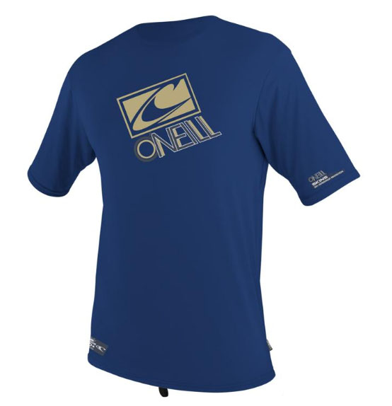 O'Neill Mens Loose Fit Rashguard Tee Men's Short Sleeve 50+ UV Protection - Blue - 3753-165