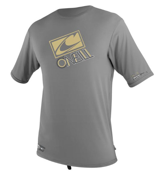 O'Neill Loose Fit Rashguard Tee Short Sleeve 50+ UV Protection - Metal -