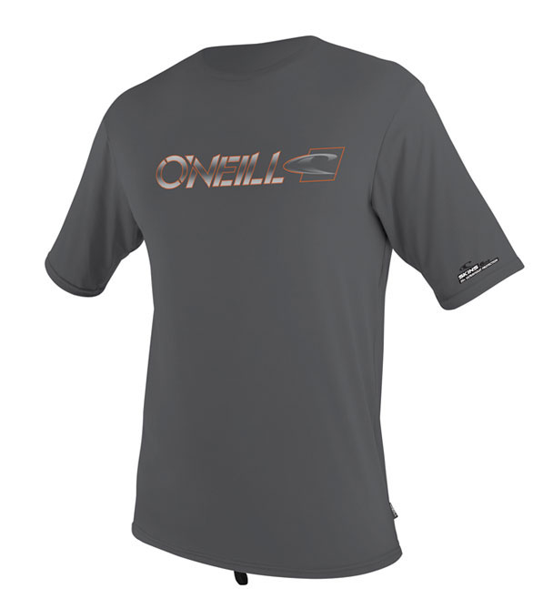 O'Neill Men's Loose Fit Rashguard Tee Men's Short Sleeve 50+ UV Protection - Grey