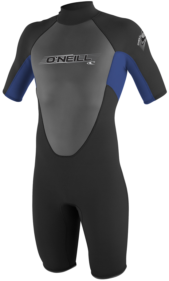 O'Neill Reactor Youth Springsuit Wetsuit 2mm Boys & Girls -Blk/Blue - 3803-K74